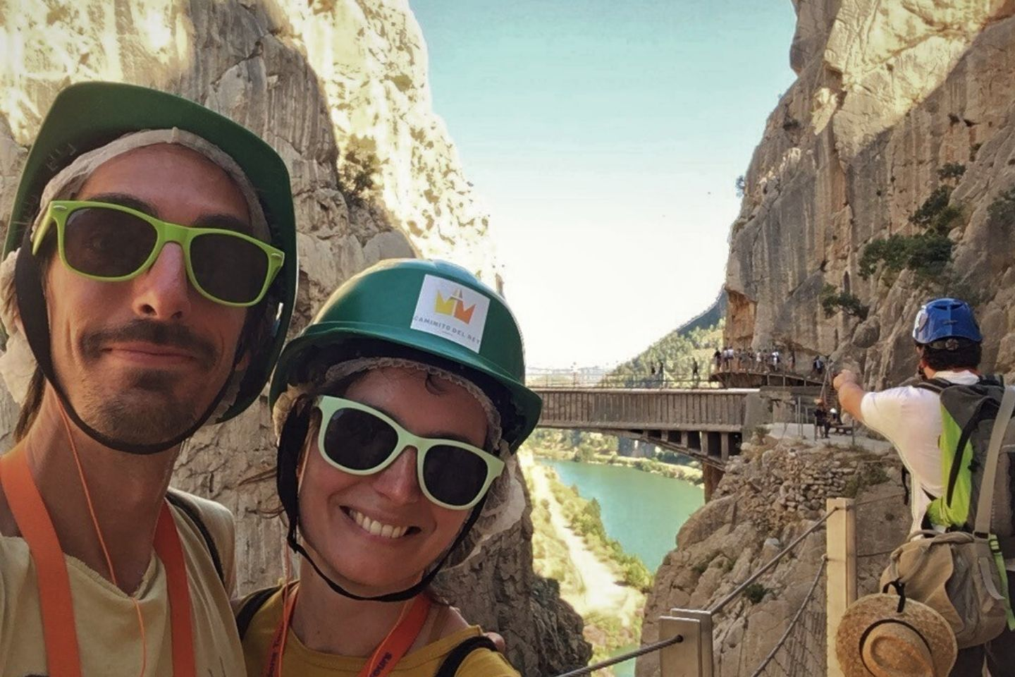Anna and Anthony hiking the Caminito del Rey