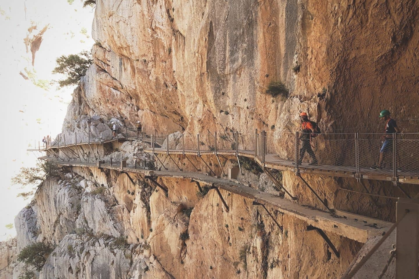 pathway along the caminito del rey hike