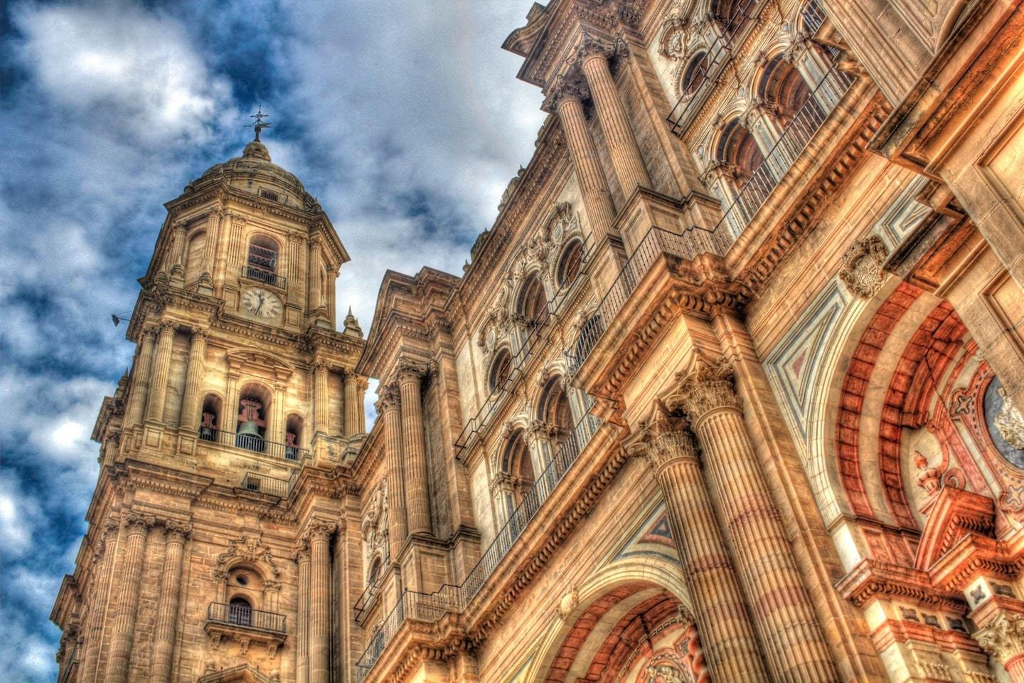 large cathedral in malaga spain