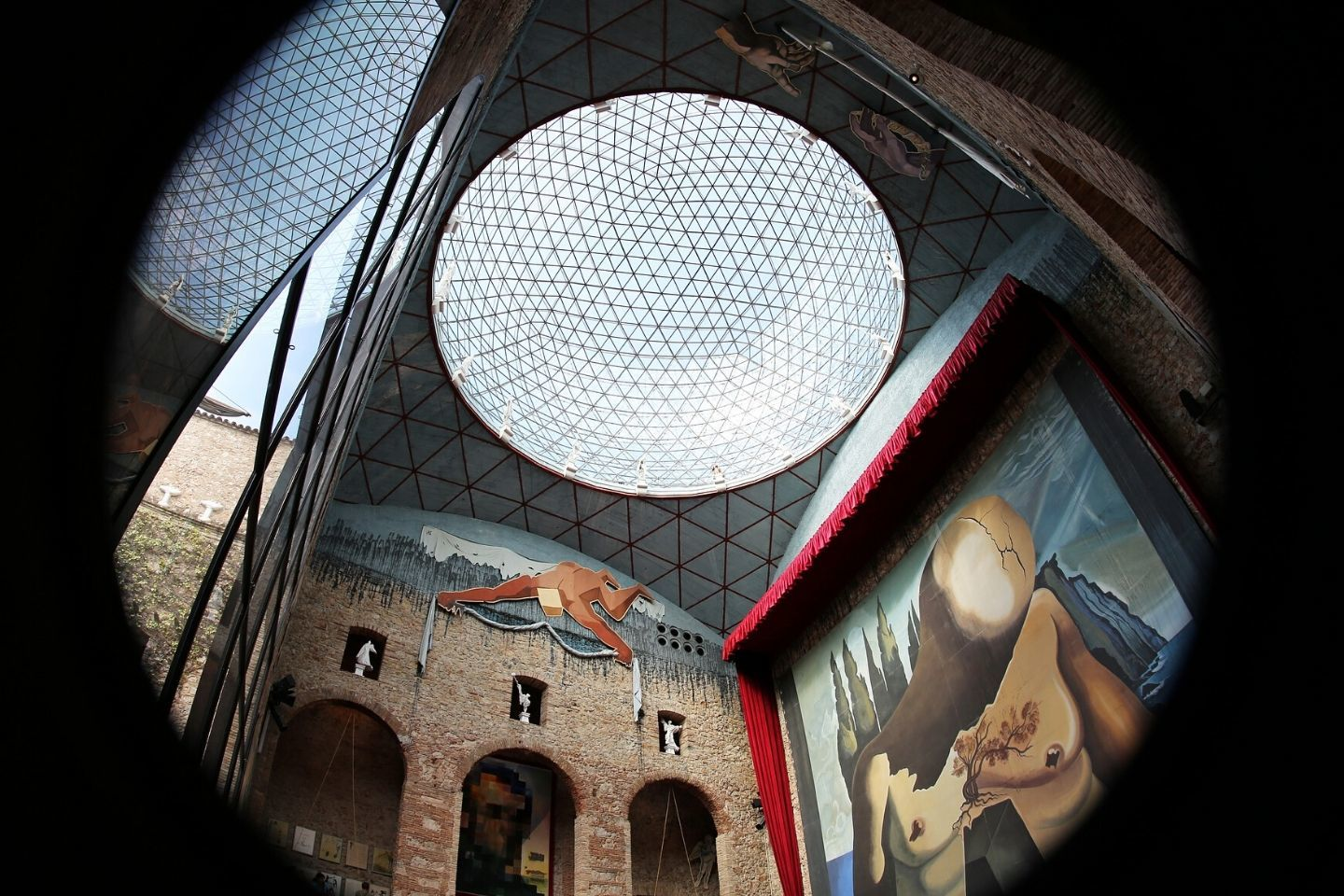 interior of the dali museum in figueres