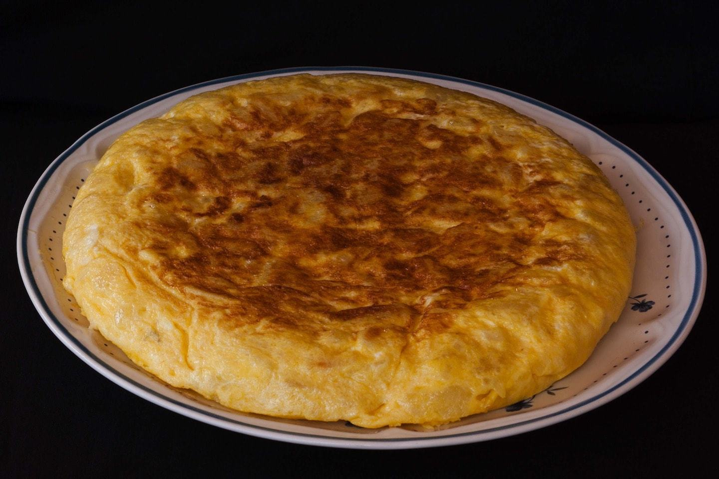 spanish omelet with eggs and potatoes