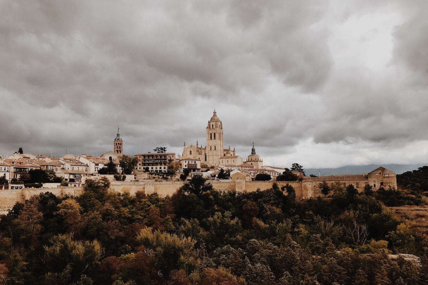 view of the city of segovia spain