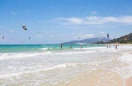 view of beach in tarifa, spain