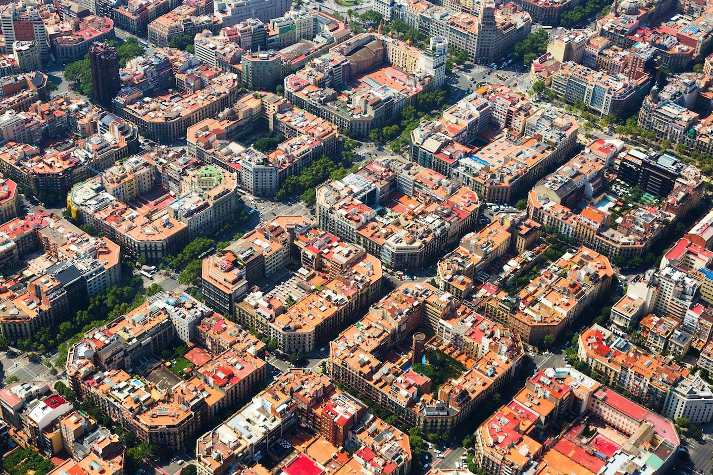 residential home formations in barcelona, spain