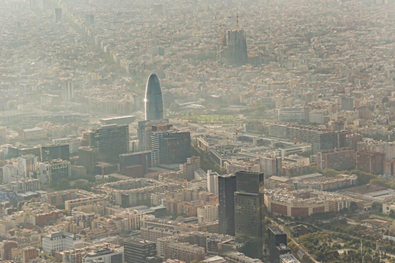 barcelona's landmarks from above