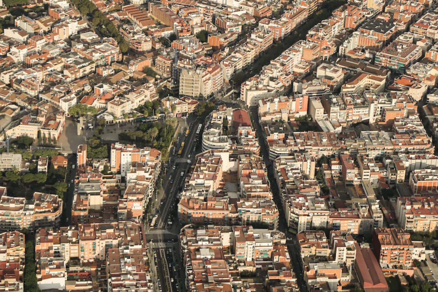beautiful views of barcelona from above