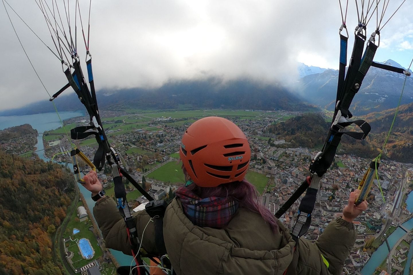 steering the paraglider