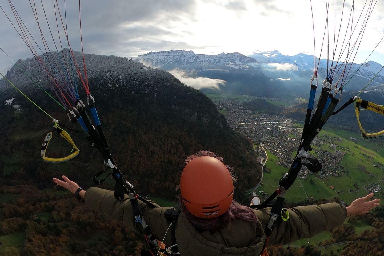 on the paragliding flight