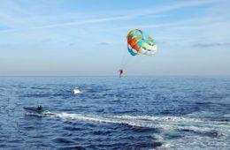parasailing at sea