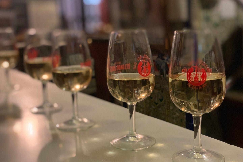 loca wine tasting during seville food tour