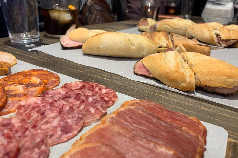 cured meats in seville, spain