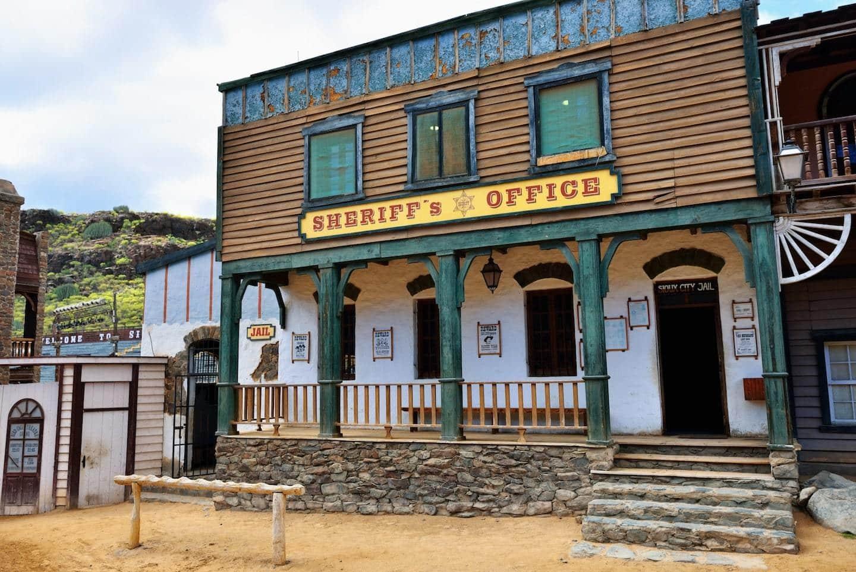 sherifs office in wild west dress up town
