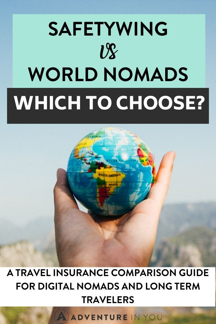 World Nomads vs SafetyWing Comparison Guide   Digital nomad or long term traveler who needs insurance coverage? Check out this comparison guide of two leading travel insurance companies: SafetyWing and World Nomads!