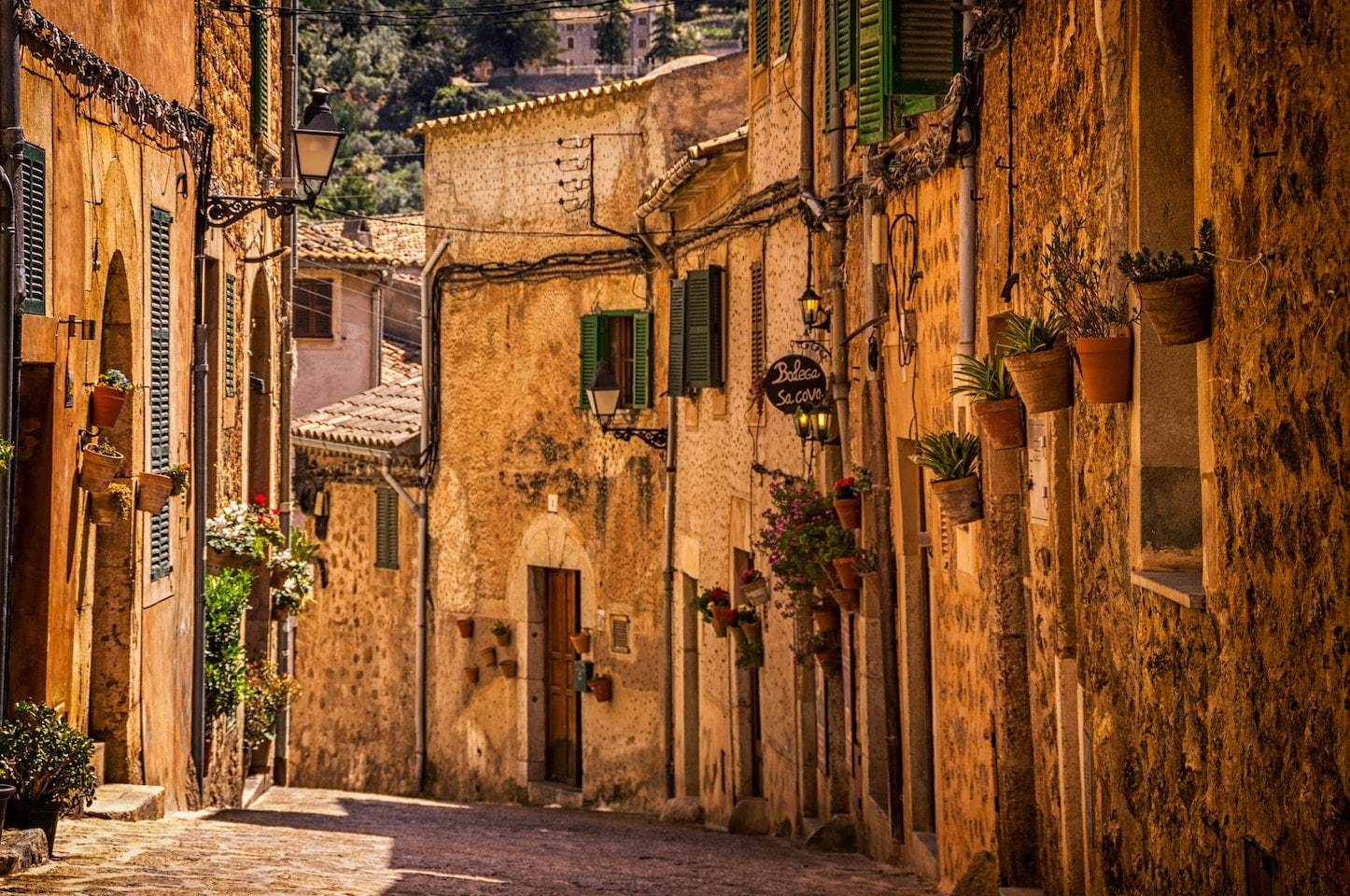 very old city street in spain