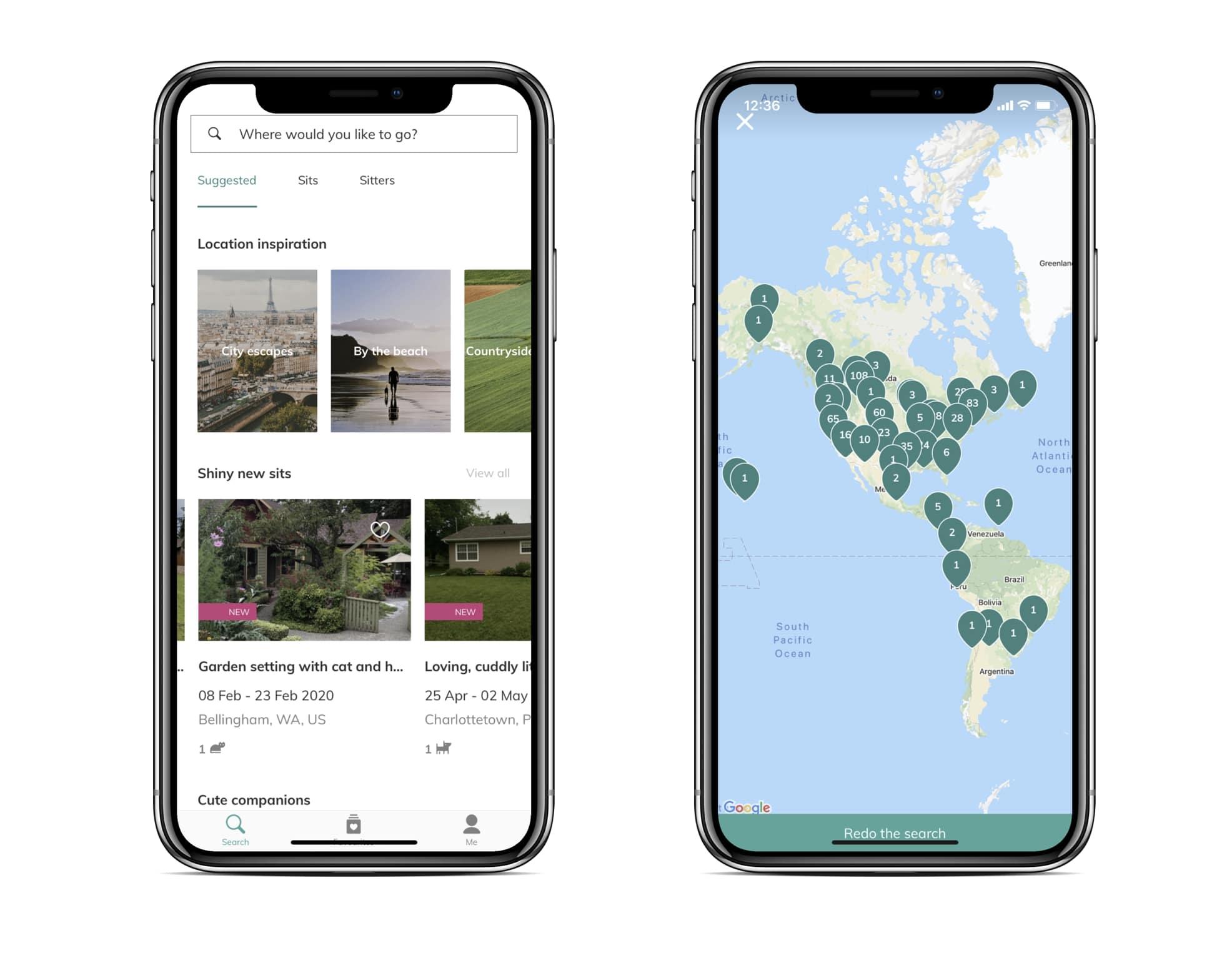 screenshots of Trustedhousesitters app