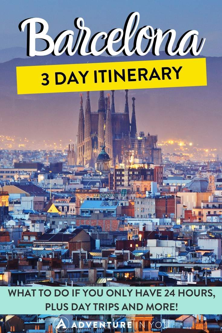 Barcelona Itinerary | No trip to Spain is complete with a stop in Barcelona. Here's a complete itinerary with everything you need from 24 hours in the city to 3 full days and a day trip!